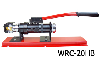 Hydraulic wire rope cutter bench mounted type