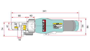 size diagram 1  cordless rebar cutter